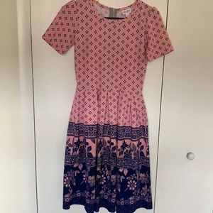 Adorable Pink Cottagecore Pleated Dress